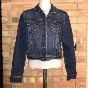 MAURICES CROPPED JEAN JACKET WOMENS S